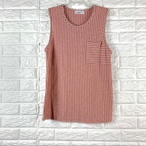 NWOT CJLA striped tank top size M